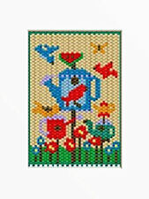 Watering Can Bird Feeder Beaded Banner Pattern