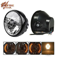 "Universal 7"" Motorcycle Headlight For Harley Bobber Dyna Honda Led Turn Signals"