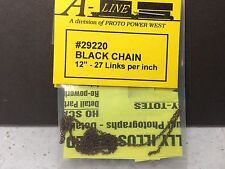 "HO 1/87 A-Line # 29220 Black Chain  12""  - 27 links per inch"
