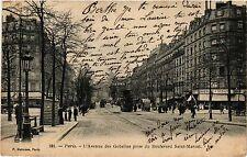 CPA Paris 13e Paris-L'Avenue des Gobelins prise du Boulevard St-Marcel (311363)