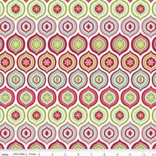FLANNEL by 1/2 Yard - Merry Matryoshka  Ogee - Riley Blake Christmas Fabric