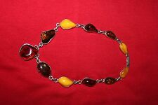 Natural Baltic Amber and Silver Neclace