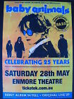Baby Animals 25th Anniversary Laminated Promotional Tour Poster