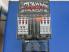Bally Gaming Inc Black & White Double Jackpot 3 Piece Set 5 Cent Slot Machine