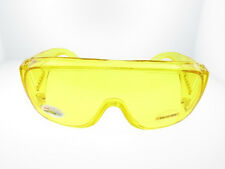PUT-ON FITS OVER RX SUN-GLASSES NIGHT DRIVING FISHING YELLOW LENS SAFETY GOGGLE