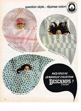PUBLICITE ADVERTISING  1967   DESCAMPS L'AINE   draps