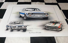 FORD ESCORT MK1 RS 2000 ZAKSPEED ROGER CLARK NURBURGRING 1972 NEW PAINTING PRINT