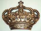 NEW Gold CROWN Wall Plaque Royal Jeweled Queen Princess Prince Gift Home Decor