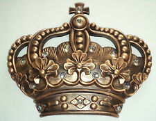 Gold Crown Wall Plaque Royal Jeweled Queen Princess Prince Gift Home Decor New