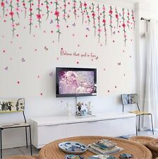 Fashion Flower Rattan Home Room Removable Art Wall Decal Paper Sticker DIY Decor