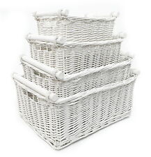 KITCHEN LOG FULL WICKER STORAGE BASKETS WITH HANDLES XMAS HAMPER BASKET GIFT