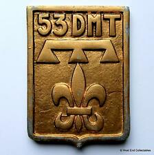 53 DMT Division Militaire Territoriale - Old French Tampion Plaque Badge Crest