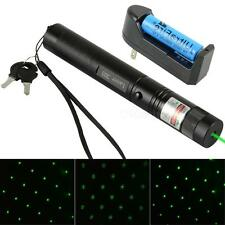 303 Green Laser Pointer Pen Adjustable Focus 532nm Beam & Battery Charger MSYG