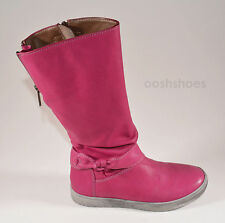 Noel Judith Pink Leather Zip Boots UK 12.5 EU 31 US 13