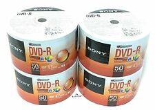 200 Sony DVD-R 16x Inkjet White Printable Disc 120 min 4.7gb Plastic In Wrap
