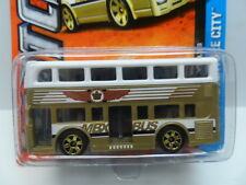 MATCHBOX 2013 1:64 MBX Adventure City TWO-STORY BUS #1 Gold Diecast Car