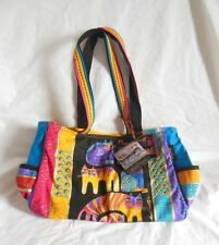Laurel Burch Feline Cats Medium Canvas 15x10x3 Tote Bag New with Tags LB5123