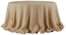 Tablecloth Burlap Natural Round 108 Inch By Broward Linens