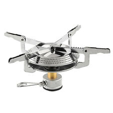 Steel Gas Butane Propane Burner Mini Camping Hiking Picnic Stove Silver