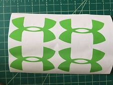 "Lots Of 4 Under ARMOUR 3"" Sticker Decal Wall Truck Car Lime Green Vinyl Logo"