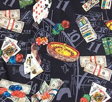 Hilo Hattie Hawaiian Shirt Large Vegas Gambling Slots Cards Poker Chips Aloha