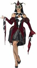 Gothic Venetian Harlequin Costume Adult Woman Outfit Carnival Fancy Dress MEDIUM