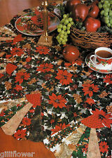 CHRISTMAS DRESDEN ROUND TABLECLOTH + STRIP PLACE MATS VINTAGE QUILTING PATTERNS