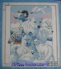 Kit broderie point de croix compté,Cross Stitch Arctic animals EN STOCK