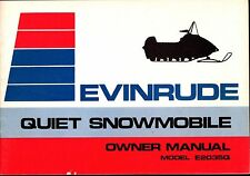 1973 EVINRUDE QUIET 16HP MODEL E2035Q SNOWMOBILE OWNERS MANUAL NEW (802)