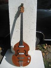 EKO 995/2 BASS GUITAR, 1960's, HANG TAGS. CASE, VERY CLEAN