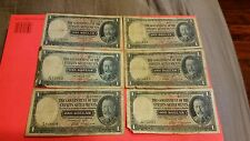 straits settlements 1935 $1 six notes used