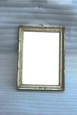 1850's Vintage Indian Antique Wall Glass Mirror Golden Wooden Frame