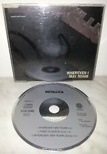 CD METALLICA - WHEREVER I MAY ROAM - FADE TO BLACK - 3 TRACKS - SINGLE