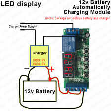 12V Battery Automatic Charging Controller Module Protection Board w/ LED Display