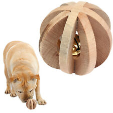 Wooden Bell Ball Small Animal Toy Puppy Dog Pig Guinea Hamster Ferret Chinchilla