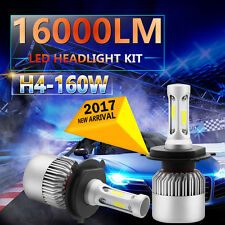 160W 16000LM LED H4 9003 HB2 Headlight Kit High/Low Beam Head Fog Light Bulbs