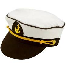 UNISEX CAPTAIN HAT ADULT SAILORS FANCY DRESS NAUTICAL ONE SIZE