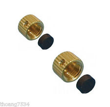 "AMERICAN VALVE Drain Caps for Drainable Valves 2 SIZES 5/16""  and 3/8"" -24 Brass"