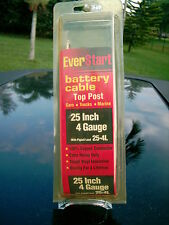 EVER START BATTERY CABLE TOP POST 25 INCH 4 GAUGE 25-4L  CAR-TRUCK-MARINE COPPER
