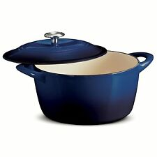 Tramontina Enameled Cast Iron 6.5 Qt Covered Round Dutch Oven COBALT BLUE NEW