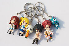 FAIRY TAIL | Set 6pcs Llaveros Keychain Figure 4cm PVC