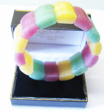 A Beautiful Multi Coloured Jade Bangle