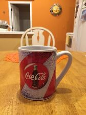 Vtg 2002 Coca-Cola Ceramic Coffee/Tea Mug Cup Marketed By Gibson Classic Coke