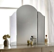 NEW Vintage Art Deco Arched Bevelled Edge 3 Part Dressing Table Mirror BNIB