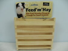 Small 'N' Furry Feed 'M' Hay Feeding Trough Hay Rack Small Animal Access Small