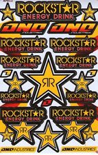 New Rockstar Energy Motocross ATV Racing stickers/decals. 1 sheet (st76)