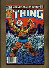 1983 The Thing #1 Origin VF First Print Newsstand Marvel Comics Fantastic Four