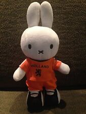 "Rare 12"" Miffy Plush - Nijntje Miffy By Dick Bruna -Holland Soccer Player."