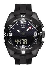 New Tissot T-Touch Solar Black Silicone Strap Mens Watch T0914204705701