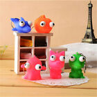 Cute Animal Squeeze Toy  Tumbled eye Doll Stress Relief Keyring Key Chain Ring
